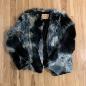 SpiritHoods Marble Fox Faux Fur Bomber